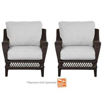 Woodbury Patio Lounge Chair with Cushion Insert - Home Depot