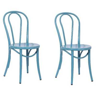 """Ellieâ""""¢ Bistro Dining Chair (Set of 2) - Ace Bayou - Blue - Target"""
