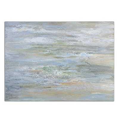 """Waves at Dawn Hand Painted Canvas-36""""H X 48""""W X 2""""D-Framed - Ballard Designs"""