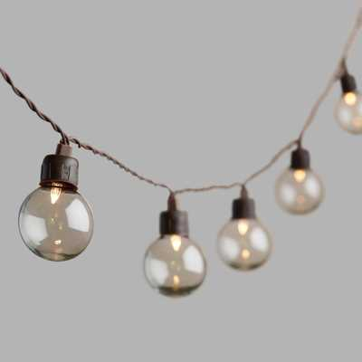Clear Orb Solar LED 20 Bulb String Lights - World Market/Cost Plus