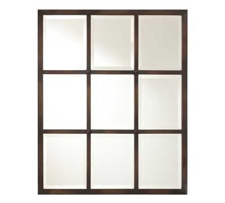 EAGAN MULTIPANEL SMALL MIRROR - BRONZE - Pottery Barn