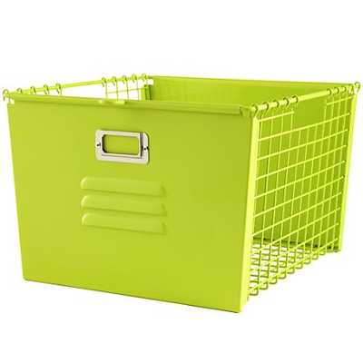 Green Metal Locker Basket - Land of Nod