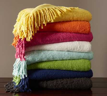 Faux Solid Mohair Oversized Throw - Pottery Barn