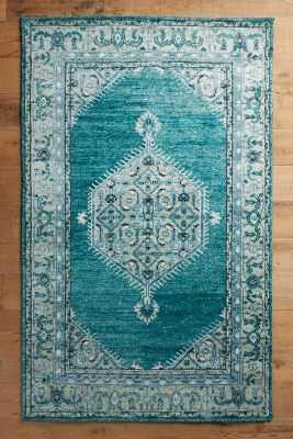 Overdyed Naima Rug - Emerald - 5' x 8' - Anthropologie