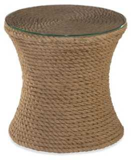 Small Rope Addie Side Table, Wheat - One Kings Lane