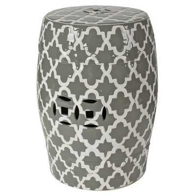 Holgate Ceramic Garden Stool - Gray - Wayfair