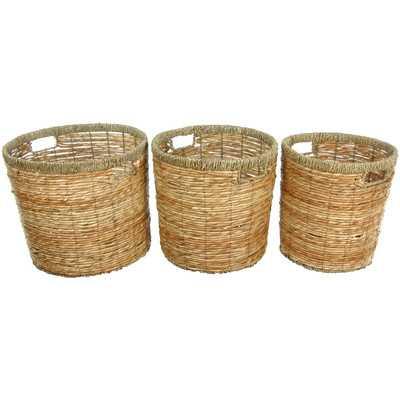 Rush Grass Round Waste Bin - Wayfair