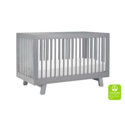Hudson 3-in-1 Convertible Crib - Gray - Wayfair
