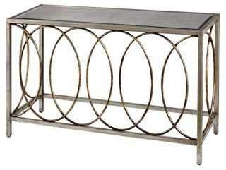 Leela Ring Console, Antiqued Silver/Gold - One Kings Lane