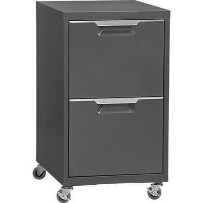 TPS carbon 2-drawer filing cabinet - CB2