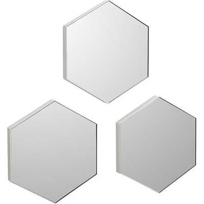 "Set of 3 swarm 13""x15"" wall mirrors - CB2"