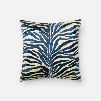 "Blue Pillow 18""Sq Down Insert - Loma Threads"