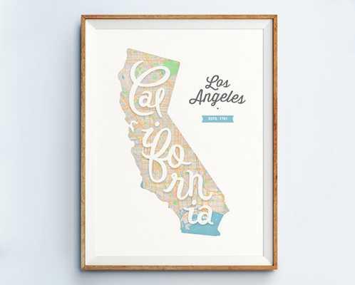 Los Angeles Print 11x14 unframed - Etsy