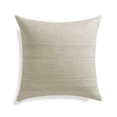 "Michaela Pillow, 20"" x 20"", Sesame, with insert - Crate and Barrel"