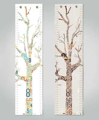 Growth Chart - Growing Tree - Canvas - Etsy