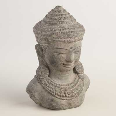 Cast Stone Dewi Sri Head - World Market/Cost Plus