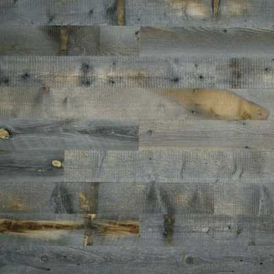 Stikwood Adhesive Wood Paneling (20'sq. Set) - Reclaimed Weathered Wood - West Elm
