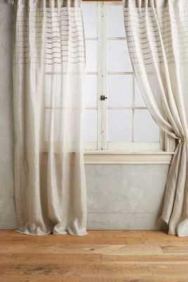 "Glinting Pintuck Curtain, Silver, 50""W x 84""L - Anthropologie"