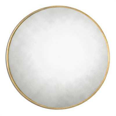Junius Round Gold Mirror - lamps.com