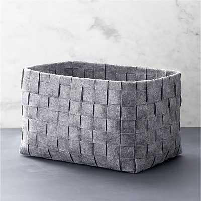 Large Woven Felt Bin - Crate and Barrel