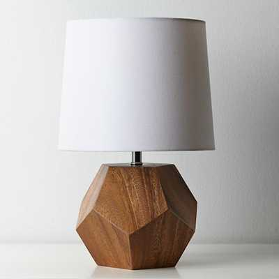 Between a Rock and a Lamp Base (Wood) - Land of Nod