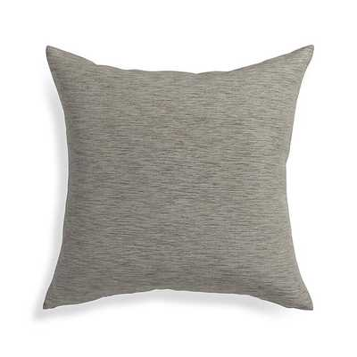 "Linden Pillow - 18"" - Mushroom Grey - With Insert - Crate and Barrel"