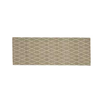 Tochi Fawn 2.5'x7' Rug Runner - Crate and Barrel