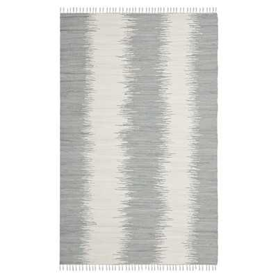 Montauk Grey Abstract Area Rug - 6' x6' - Wayfair
