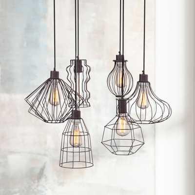 Portersville Rusty Urban Multi Light Pendant - Lamps Plus
