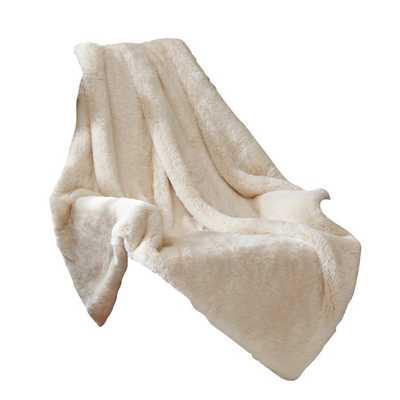 Signature Luxury Faux Fur Throw Blanket - AllModern