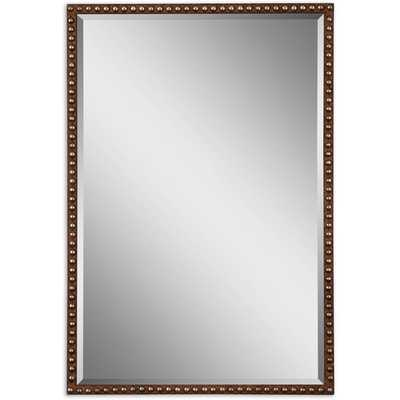 Uttermost Tempe Distressed Brown Rectangle Decorative Wall Mirror - Overstock