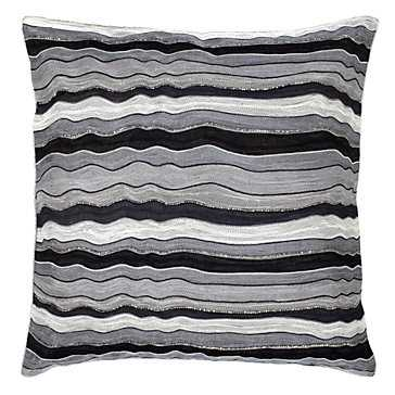 "Madrid Pillow 22"" -Insert included, metallic - Z Gallerie"