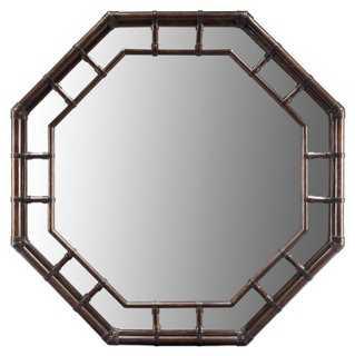 Ciaran Wall Mirror, Clove - One Kings Lane