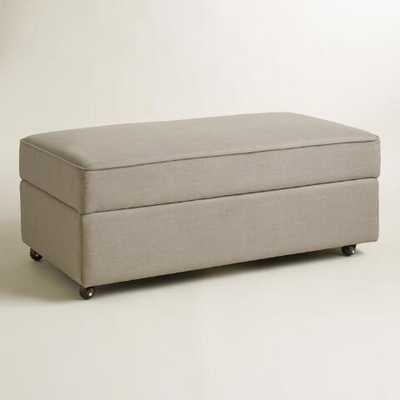 Pebble Gray Chad Storage Ottoman - World Market/Cost Plus