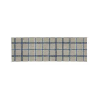 Koen Grid Sky Indoor-Outdoor 2.5'x8' Rug - Crate and Barrel