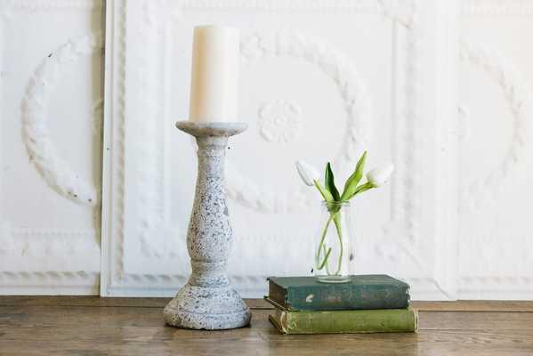 Antique White Candle Holder - shop.magnoliamarket.com
