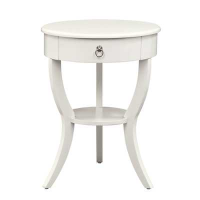 Decatur 1 Drawer End Table - White - Wayfair