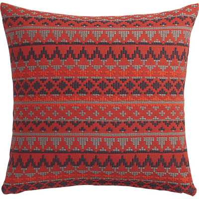 "aspen  pillow - 20"" x 20"",  Red with feather insert - CB2"