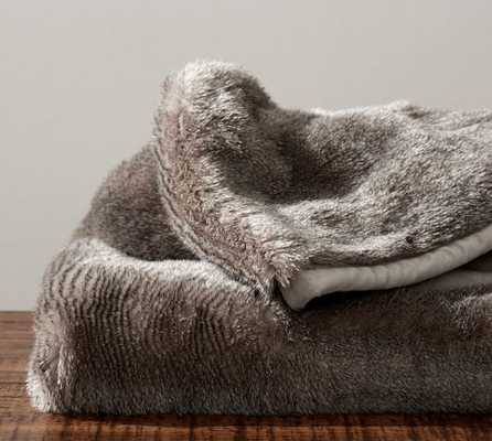 FAUX FUR THROW - CHINCHILLA - Pottery Barn