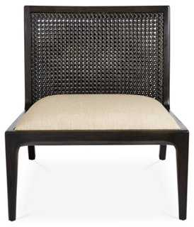 Messina Linen Accent Chair - One Kings Lane