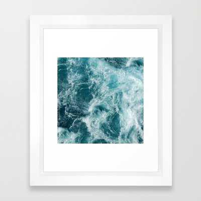 "Sea -FRAMED ART PRINT/ VECTOR WHITE MINI (10"" X 12"") - Society6"