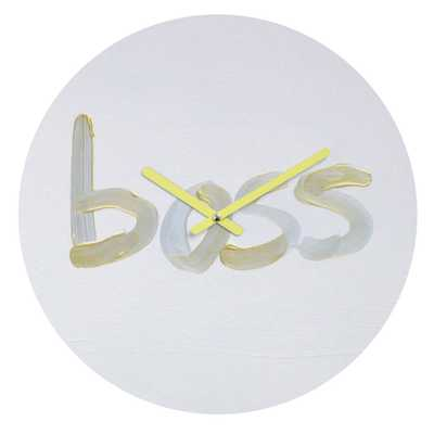 LIKE A BOSS Round Clock - Wander Print Co.
