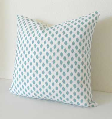 """Mineral blue spots pillow -20"""" x 20""""- Insert Sold Separately - Etsy"""