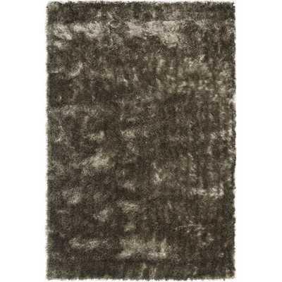 Safavieh Silken Silver Shag Rug (6' x 9') - Overstock