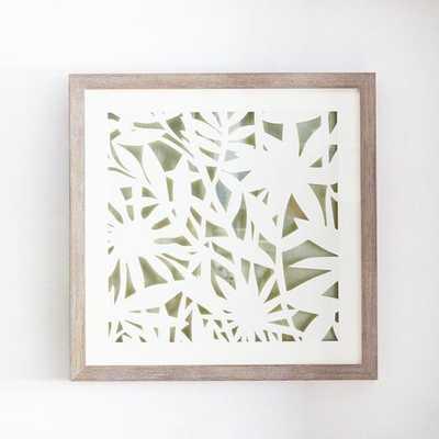 Modern Paper Cut Out Wall Art - Flower - Champagne - West Elm