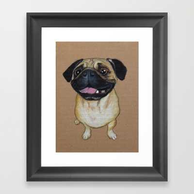 Pug Dog - Framed - Society6