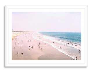 "Carlos Pereira, Santa Monica Beach-40"" x 29""-Framed - Oliver Gal"