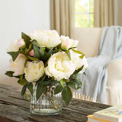 Faux Ivory Peony Bloom - Birch Lane