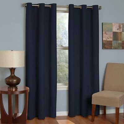 "Eclipse Thermaback Microfiber Grommet Blackout Curtain Panel - Navy - 42""W x 95""L - Target"