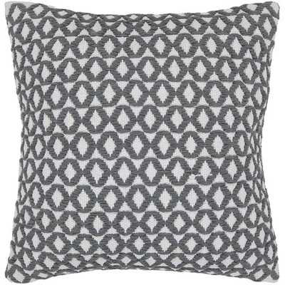 Geometric Contemporary Throw Pillow- White and gray- 18x18- Down/Feather fill insert - AllModern